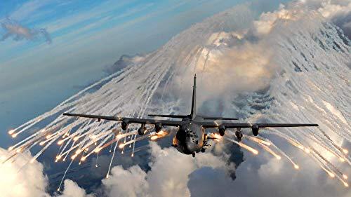 ZGNH Rompecabezas 1000 Piezas Trayectoria del avión Militar AC-130 Madera Puzzle, niño Juguete Educativo Intelectual de Adulto descompresión,Regalo Ideal La Mejor DIY Decoración hogareña
