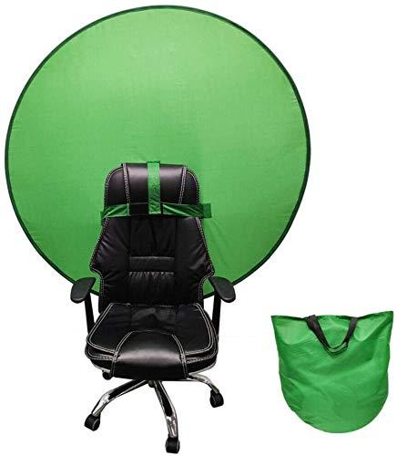 Greenscreen, 4.7Ft Faltbar Hintergrund Greenscreen für Stuhl mit Tragetasche, 100% Polyester Green Screen Fotostudio Hintergrund für Fotografie, Zoom, Video, Streaming, Doppelseitiger Chromakey Grün