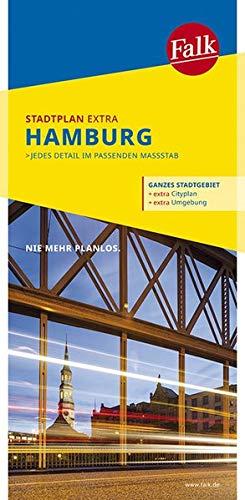 Falk Stadtplan Extra Standardfaltung Hamburg 1:22 500-1:39 000: mit Ortsteilen von Ahrensburg, Neu Wulmstorf, Oststeinbek, Pinneberg (Falk Stadtplan Extra Standardfaltung - Deutschland)