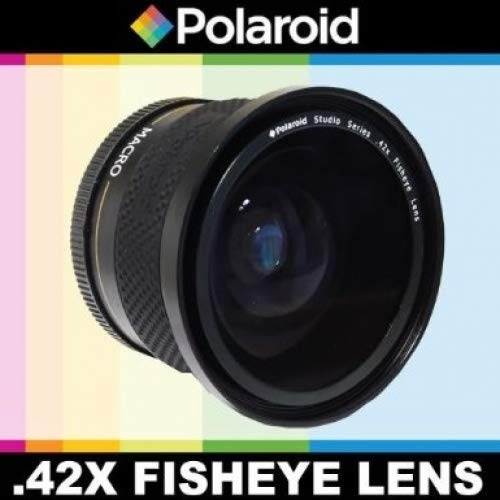 Polaroid Studio Series .42x High Definition Fisheye Lens With Macro Attachment, Includes Lens Pouch and Cap Covers For The Pentax K-3, K-50, K-500, K-01, K-30, K-X, K-7, K-5, K-5 II, K-R, 645D, K20D, K200D, K2000, K10D, K2000, K1000, K100D Super, K110D,ist D,ist DL,ist DS,ist DS2 Digital SLR Cameras Which Has Any Of These (55-300mm, 75-300mm, 18-50...