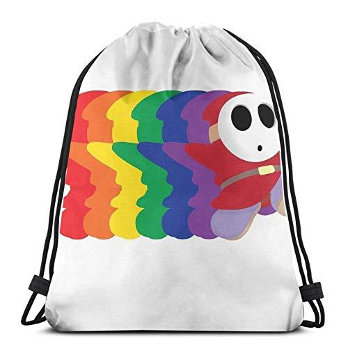 WH-CLA Drawstring Bags Noah Guy Gym Anime Mochila con Cordón Estampado Mochila con Cordón Bolsos De Viaje Ocasionales Bolsos con Cincha Hombres Únicos Duraderos Mujeres Ligero para Montañ