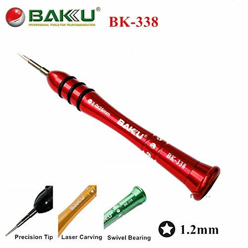 BAKU Professionele Precisie Schroevendraaier BK-338 voor MacBook Air Pro Reparatie Gereedschap, 5-Point Star P5 Pentalobe 1,2 mm Schroevendraaier