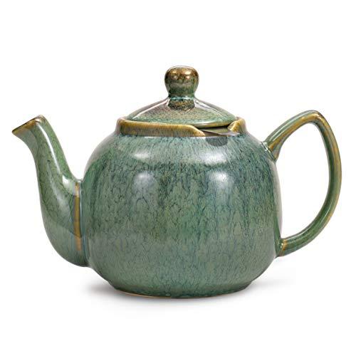 Urban Lifestyle Bristol - Teiera smaltata a mano, Ceramica, verde acqua, 1,0 l