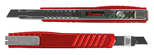 Ecobra 770325 Premium Cutter, 9 mm metallicrot
