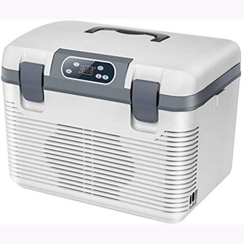 Rindasr Portátil refrigerador Mini Electricidad, de Doble núcleo congelador preservación del Calor de refrigeración, 19L de Gran Capacidad, Pantalla LCD Digital de pequeño refrigerador