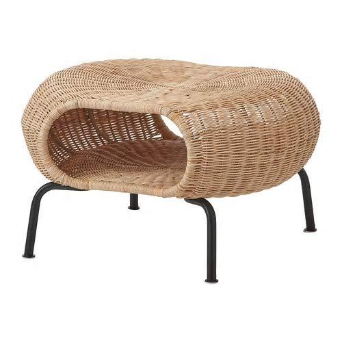 IKEA/イケア GAMLEHULT:フットスツール 収納付き 籐 (804.429.66)