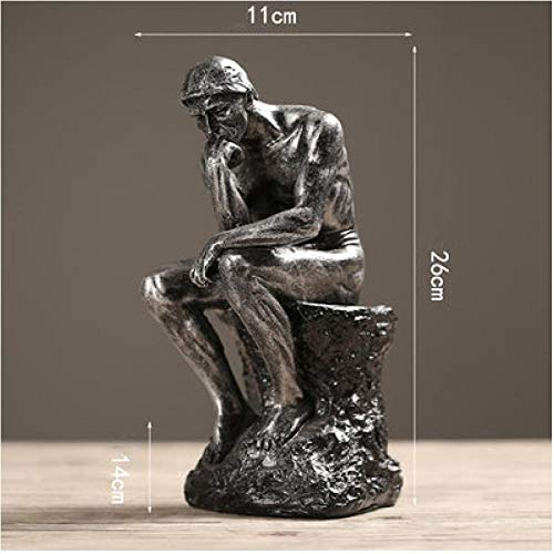 AIJOAN-BJ Statues Décoratives Ornement De Statue Résine Grès Penseurs Figurines Ornements Créatifs Étude À La Maison Rétro Décorations Ameublement De Bureau Cadeaux