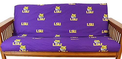 College Covers LSU Tigers Futon Cover, Full, Team Colors
