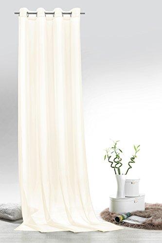 Fashion&Joy - Ösenschal Voile Natur HxB 245x140 cm - transparent einfarbig - Dekoschal Gardine Typ418