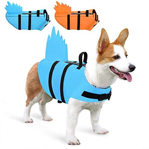 Chaleco salvavidas para perro con aleta y asa de rescate para perros pequeños, medianos, grandes, azul, XS
