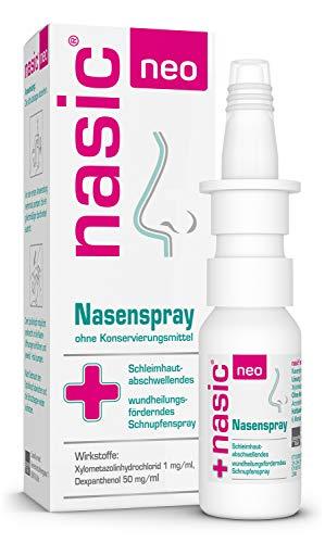 nasic neo Nasenspray mit dem WirkPlus – Abschwellendes Schnupfenspray ohne Konservierungsstoffe für Erwachsene & Kinder ab 6 Jahren – Mit Xylometazolin, Dexpanthenol – 10 ml