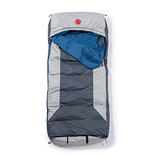 OmniCore Designs Multi Down Hooded Rectangular Sleeping Bag (-10F to 30F) with 4pt. Compression Stuff Sack