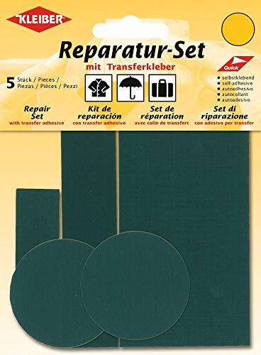 Kleiber reparatiepleisters voor kleding, nylon, zelfklevend, groen, 5 stuks