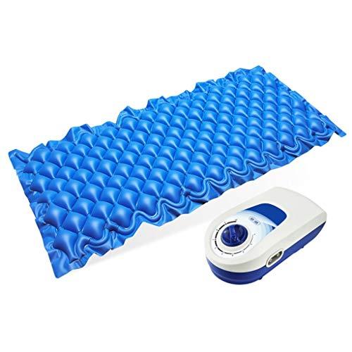 WJSW Anti-Dekubitus-Luftmatratze, Medizinische PVC-Matratze, Pumpe mit variablem Druck, Flüsterleise, sphärische Lochwellenmatratze, Blau