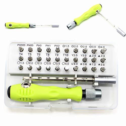 Set Profesional de destornilladores Kit 32 en 1 Puntas de destornillador Destornillador multifunción para Dispositivos Variados