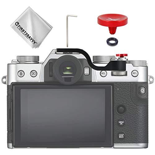 Thumbs Up grip + Pulsante di Rilascio Dell'otturatore Compatibile con DSLR Fuji Fujifilm X-T30 X-T20 X-T10 (Pulsante di rilascio dell'otturatore) (nero)