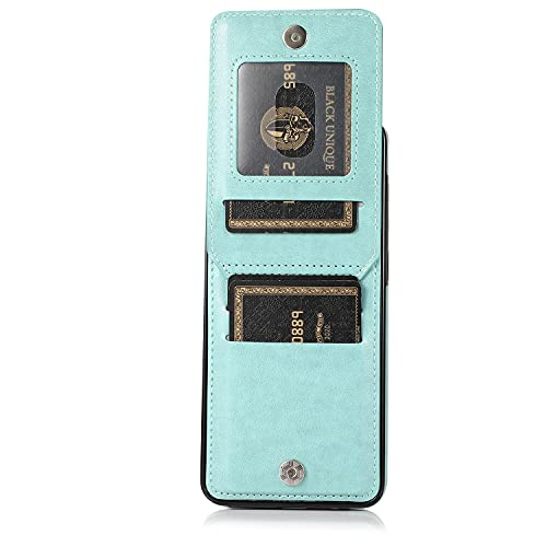 BAIYUNLONG Funda Protectora, para Samsung Galaxy S9 Plus Teléfono Funda PU Cuero Vintage Estuche a Prueba de choques, Cubierta de la Cartera TPU Soft TPU Funda Protectora híbrida (Color : Green)