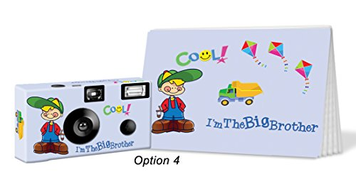 I'm The Big Brother Camera and Photo Album Set in Blue, Customize with Hair and Complexion Colors. Personalize with Big Brother's Name. Big Brother Gift (PK507)