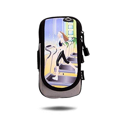 JIANGCJ Elegante sencillez AntideslizanteBolso de mano para mujer, ExterioresCorrer, Móvil,ArmBagBagBagArmBagFitnessSportsWristBagMobilePhoneArmCoverDurable (Color: B) (Color: D)