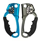 XINDA Ascender (Right Hand and Left Hand) - Climbing Ascender 8~13MM CE UIAA Certified, Arborist Rope Clamp for Rock Tree Climbing Rappelling