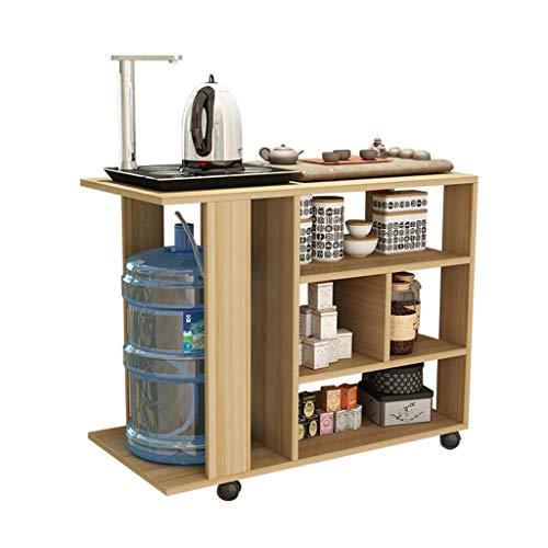 Tables basses Chariot à thé Armoire à thé Amovible Table à thé Table à thé Chariot à thé Support de thé Stockage côté canapé (Color : Brown, Size : 80 * 40 * 65cm)