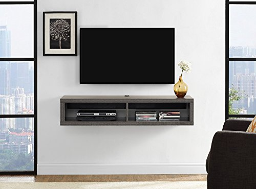 Martin Furniture Floating TV Console, 48', Skyline Walnut