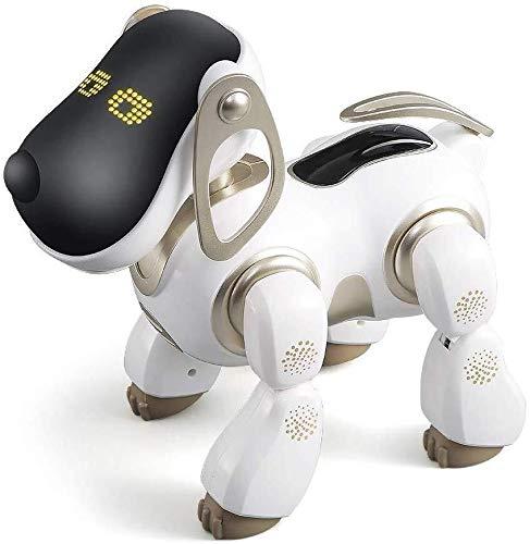 ADLIN Robot Jouet for Chien Chantez et dansez électronique Robot Dog Pet Toy Smart Kids Interactive Walking Puppy Son avec lumière LED Cadeau de Jouets éducatifs for Enfants