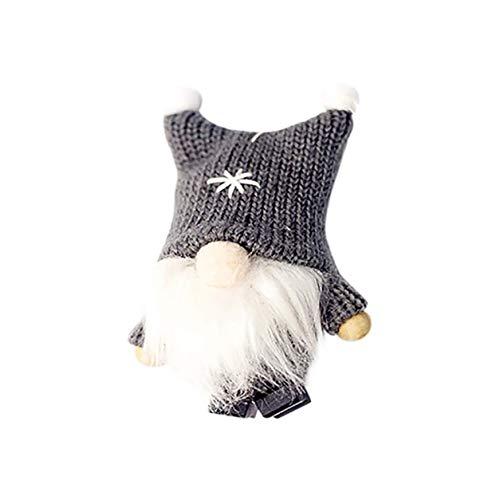 Kongqiabona-UK Muñeca de Navidad Decoración del hogar de Navidad Santa Claus Muñeca sin Rostro Sombrero de Felpa Muñeca de Tejer Colgante Muñeca Creativa Regalo