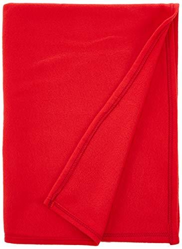 Soleil d'Ocre 512049 - Manta polar (microfibra de poliéster, 120 x 160cm), color rojo
