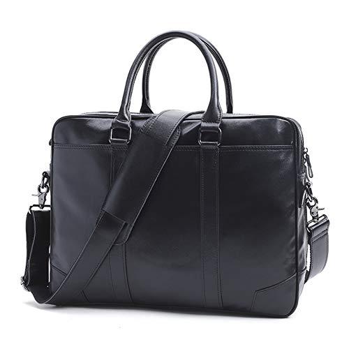 Men Briefcase Bag Genuine Leather Handbag 20' Laptop Bag Messenger Shoulder Business Vintage Crossbody Bag Retro Leisure Fashion for Men Office Travel Weekend,B