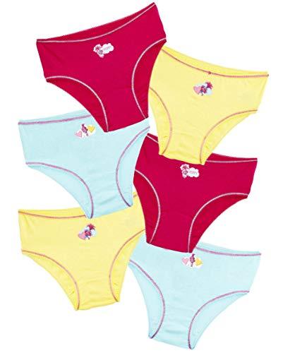 TROLLS Bragas Niña, Pack de 6 Bragas de Algodon Suave con Personaje Poppy, Ropa Niña Interior Tallas 2-8 Años, Braguitas Niña Comodas, Regalos Originales para Niñas (2-3 años)