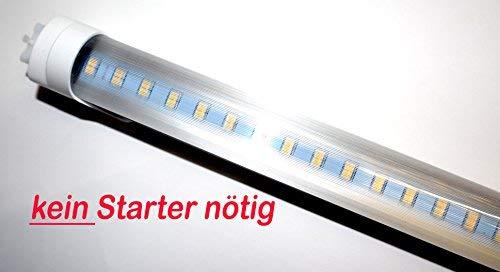 LED Röhre [kein Starter nötig!] T8 Länge 72 cm (720mm) Leistung 12W Lumen 1320lm Lichtfarbe 3200K Farbreinheit CRI >80