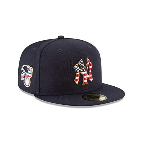 49774a37a082b New Era New York Yankees 2018 Stars   Stripes 4th of July 59Fifty Hat at  Amazon Men s Clothing store