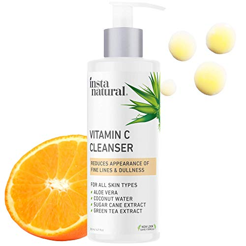 InstaNatural Facial Cleanser - Vitamin C Face Wash - Breakout & Blemish & Wrinkle Reducing,...