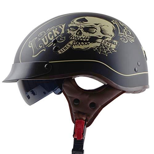 Jet Helmet Casco de Moto TYX para Motociclista, monopatín, Motocicleta, monopatín, Motocicleta,...