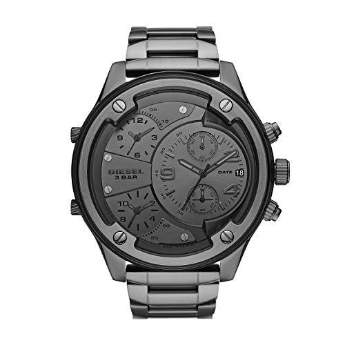 Diesel Herren Analog Quarz Uhr mit Edelstahl Armband DZ7426