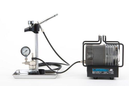 Mr.リニアコンプレッサー L7/エアーブラシ/圧力計付レギュレーターセット PS308
