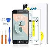 Yodoit Pantalla Completa para iPhone 6 LCD Negro, Ensamblaje de Reemplazo del Digitalizador con Piezas de Repuesto (cámara Frontal, Botón Home) + Herramienta (4,7 Pulgadas)
