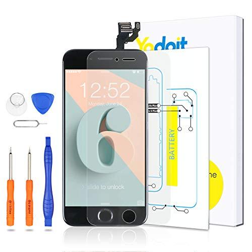 Yodoit Komplett Display für iPhone 6 LCD Bildschirm vormontiert 4.7
