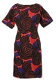 MadaM T Vestido para el día a día Judy, para mujer, Coral Black, 42/corto