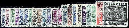 Goldhahn  erreich Nr. 567-587 gestempelt Volkstrachten 1934  Briefürken für Sammler
