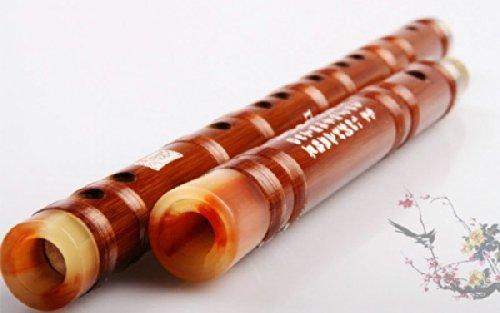 D Key Exquisite Bitter chinesische Bambusflöte Dizi Instrument 2 Sektionen w / Accesseries