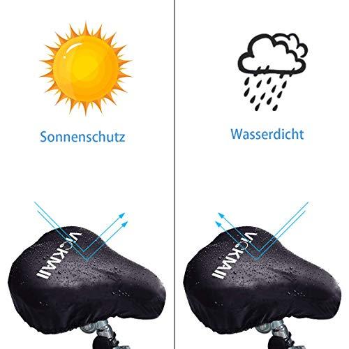 DATONG Wasserdichte Fahrradsattelabdeckung,elastische Wasserfeste Fahrradsattel Schutzhülle, Passend für den Meisten Fahrradsattel wie Rennrad, Mountainbike, Damenrad, E-Bike u.s.w.(2PCS) - 2