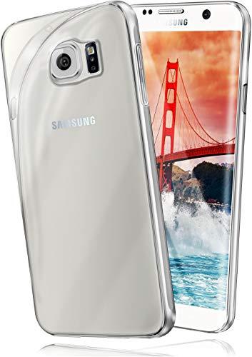 moex Aero Case für Samsung Galaxy S6 Edge Plus - Hülle aus Silikon, komplett transparent, Handy Schutzhülle Ultra dünn, Handyhülle durchsichtig - Klar