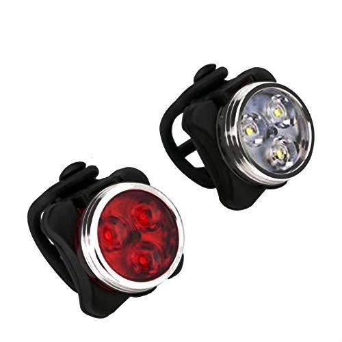 Fahrrad-Licht-Set, super helle USB aufladbare Fahrradbeleuchtung, wasserdicht Bergstraße Fahrradbeleuchtung Wiederaufladbare, Sicherheit, einfache Befestigung der Cree-LED Fahrradbeleuchtung, USB Fahr
