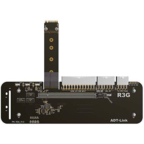 ADT-Link clé M.2 M Support de Carte Graphique Externe NVMe avec câble de Montage Vertical PCIe3.0 x4 25cm 50cm 32Go pour ITX STX NUC VEGA64 GTX1080ti (25CM,R43SG)