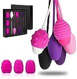 YUECHAO Kegel - Juego de 6 pelotas de silicona para entrenamiento de pélvico en el suelo, fortalece los músculos vaginales, resistente al agua, 30 g a 150 g