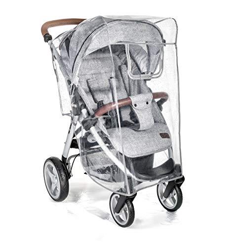 Zamboo Parapioggia Comfort per Passeggino - Adatto anche a passeggini leggeri - Con finestra sollevabile - Facile e veloce da montare