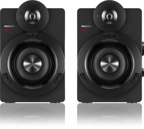 Philips BTS5000G/10 S5X Kabellose Studio-Lautsprecher mit Bluetooth (100 W RMS, aptX, AAC, Bassreflex-System), grau