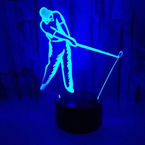 3D-Illusionslampe führte Nachtlicht 7 Farben ändern Neuheit spielen Golf USB-Kabel Geburtstag Weihnachtsfeier Geschenk